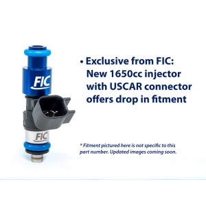 1650cc (180 lbs/hr at OE 58 PSI fuel pressure) FIC Fuel Injector Clinic Injector Set for LS3, LS7, L76, L92, and L99 engines (High-Z)