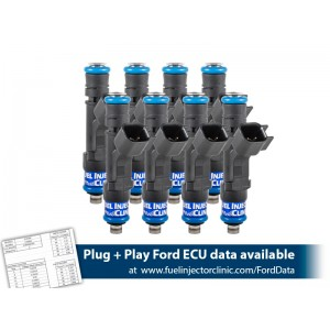 525cc FIC Fuel Injector Clinic Injector Set for Mustang GT (2005-2016 )/GT350 (2015-2016)/ Boss 302 (2012-2013)/Cobra (1999-2004)  (High-Z)
