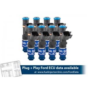 1000cc (110 lbs/hr at 58 PSI fuel pressure) FIC Fuel   Injector Clinic Injector Set for Ford F150 (2004-2016) Ford Lightning (1999-2004) Injector Sets