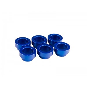 6 x FIC blue anodized Toyota Supra manifold bungs