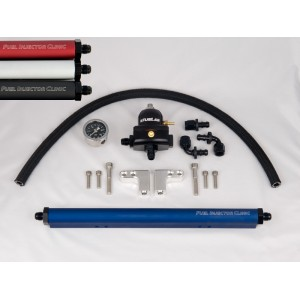 Complete DSM Fuel Rail Kit With -8 AN Inlet & -6 AN Return Fittings