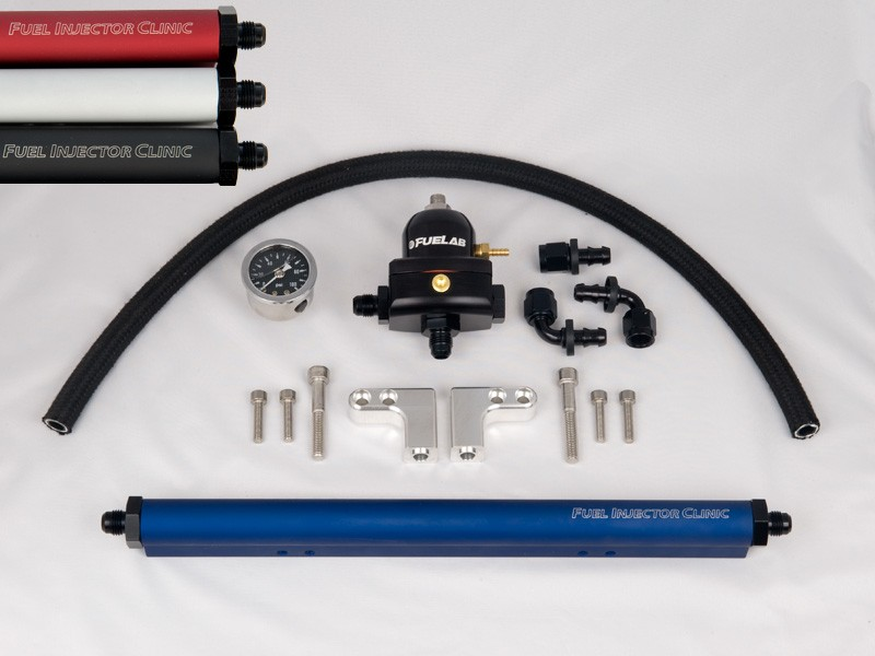 Complete DSM Fuel Rail Kit With -8 AN Inlet & -6 AN Return