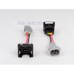 Set of 4 Jetronic/EV1 (female) to Denso (male) injector plug adaptors