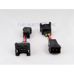 Set of 4 Jetronic/EV1 (female) to Honda OBD2 (male) injector plug adaptors