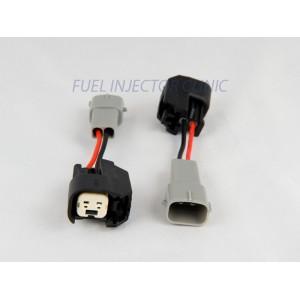 Set of 4 US Car/EV6 (female) to Toyota (male) injector plug adaptors