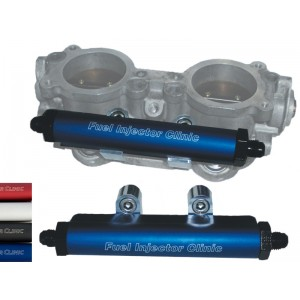 Subaru STi ('04 -'06) OR  Legacy GT ('05-'06) Top Feed Conversion Fuel Rails With -8 Inlet & -6 Return Fittings