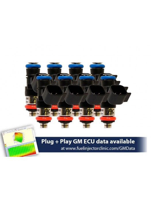1000cc (100 lbs/hr at OE 58 PSI fuel pressure) FIC Fuel  Injector Clinic Injector Set for LS3, LS7, L76, L92, and L99 engines (High-Z)