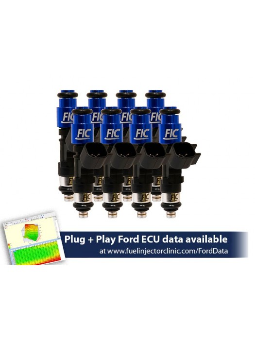 775cc (74 lbs/hr at 43.5 PSI fuel pressure) FIC Fuel  Injector Clinic Injector Set for Ford F150 (1985-2003)/Ford Lightning (1993-1995)