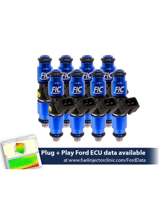 1200cc (110 lbs/hr at 43.5 PSI fuel pressure) FIC Fuel  Injector Clinic Injector Set for Ford F150 (1985-2003)/Ford Lightning (1993-1995)