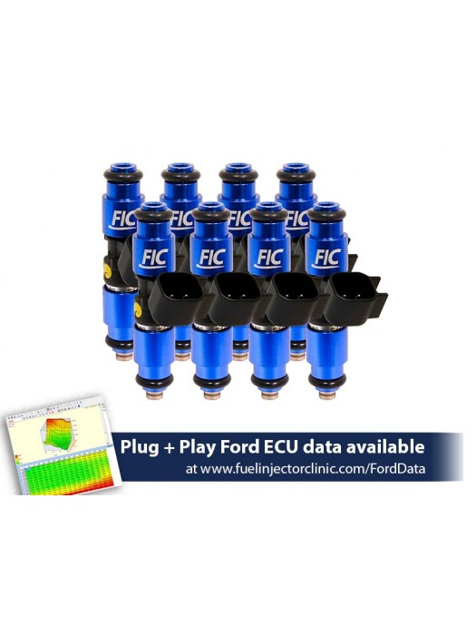 1440cc (140 lbs/hr at 43.5 PSI fuel pressure) FIC Fuel  Injector Clinic Injector Set for Ford F150 (1985-2003)/Ford Lightning (1993-1995)