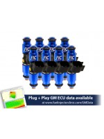 1440cc (160 lbs/hr at OE 58 PSI fuel pressure) FIC Fuel Injector Clinic Injector Set for LS1 engines (High-Z)