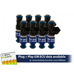 2150cc (240 lbs/hr at OE 58 PSI fuel pressure) FIC Fuel  Injector Clinic Injector Set for 4.8/5.3/6.0 Truck Motors ('99-'06) (High-Z)