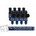1200cc (110 lbs/hr at 43.5 PSI fuel pressure) FIC Fuel  Injector Clinic Injector Set for Ford Shelby GT500 (2007-2014)