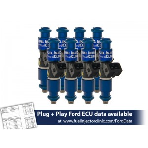 1200cc (110 lbs/hr at 43.5 PSI fuel pressure) FIC Fuel  Injector Clinic Injector Set for Ford Raptor (2010-2014) Injector Sets