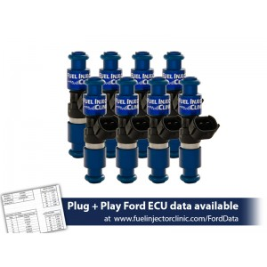 2150cc (200 lbs/hr at 43.5 PSI fuel pressure) FIC Fuel  Injector Clinic Injector Set for Ford F150 (1985-2003)/Ford Lightning (1993-1995)