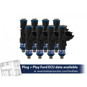 775cc (74 lbs/hr at 43.5 PSI fuel pressure) FIC Fuel  Injector Clinic Injector Set for Ford Shelby GT500 (2007-2014) / Ford GT40 (2005-2006)(High-Z)
