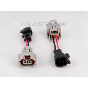 Set of 4 Denso (female) to US Car/EV6 (male) injector plug adaptors