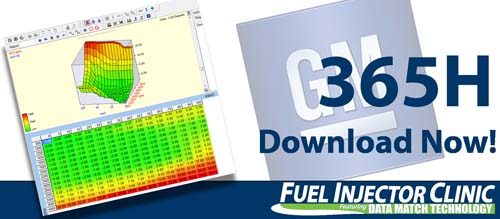 GM Data for our 365cc/min Injector
