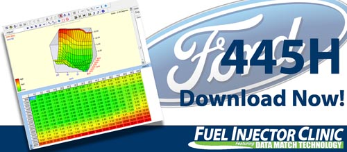 Ford Data for our 0445cc/min Injector