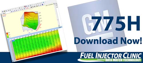 GM Data for our 775cc/min Injector